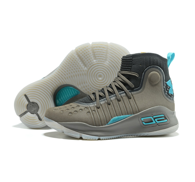 Curry 4 Aqua Green
