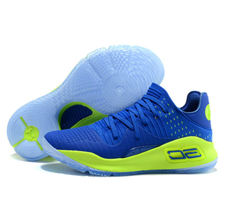 Stephen Curry 4 Shoes Low Green Blue