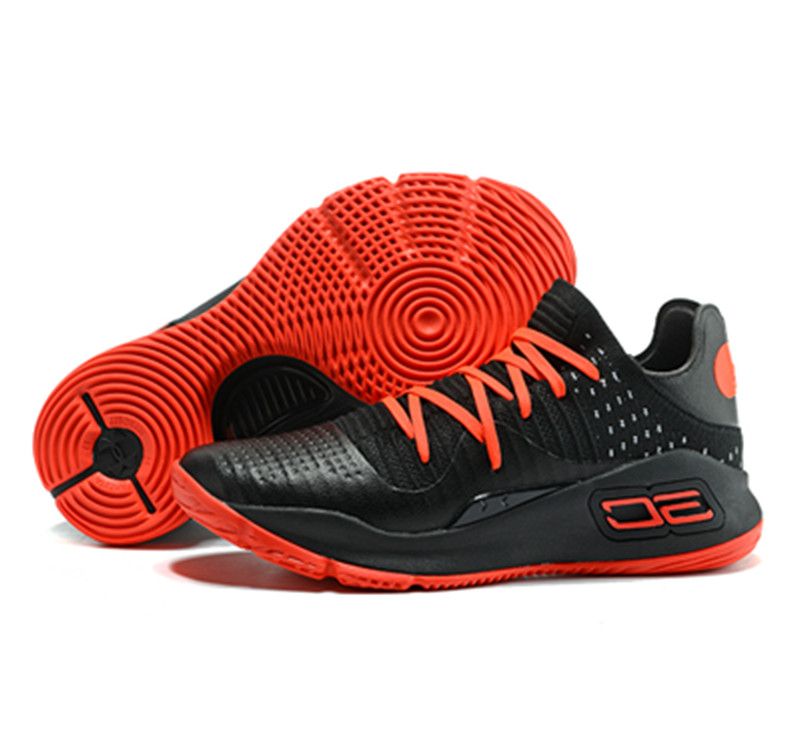 Stephen Curry 4 Shoes Low Black Red