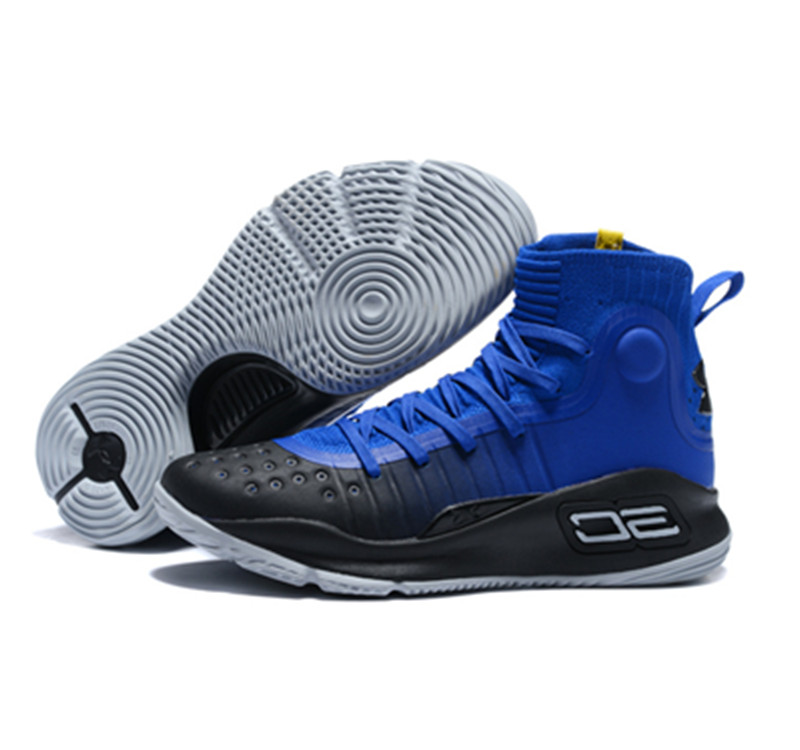 UA Curry 4 Blue White