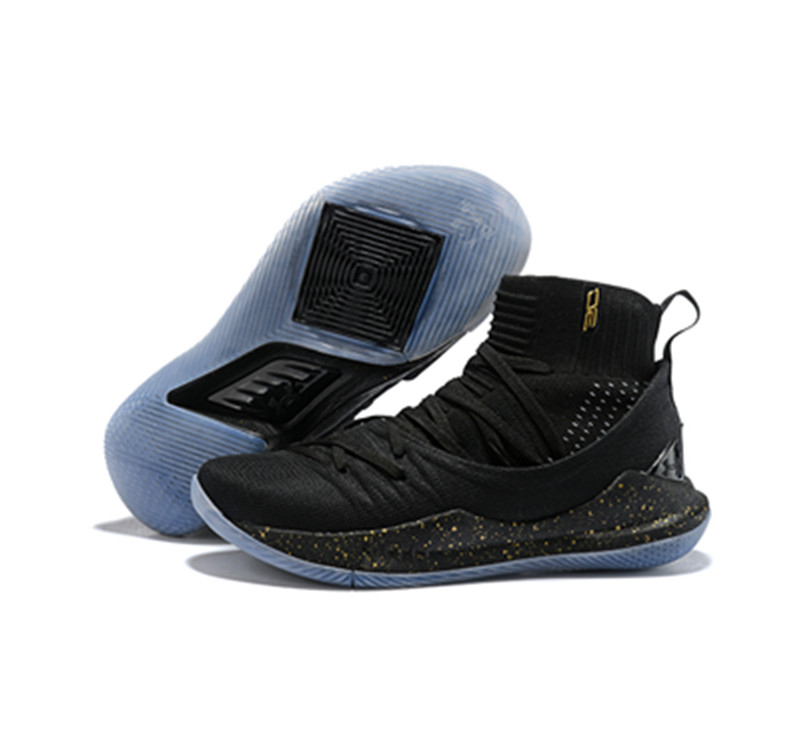 Curry 5 Shoes Black Blue