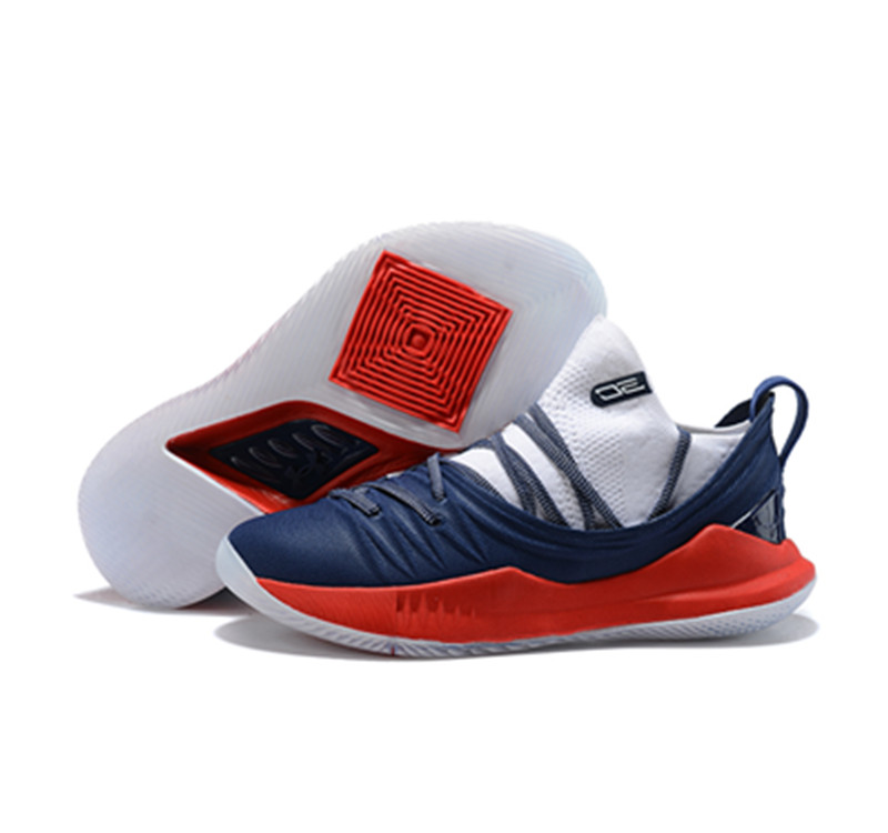 Curry 5 Shoes Low Red Blue White