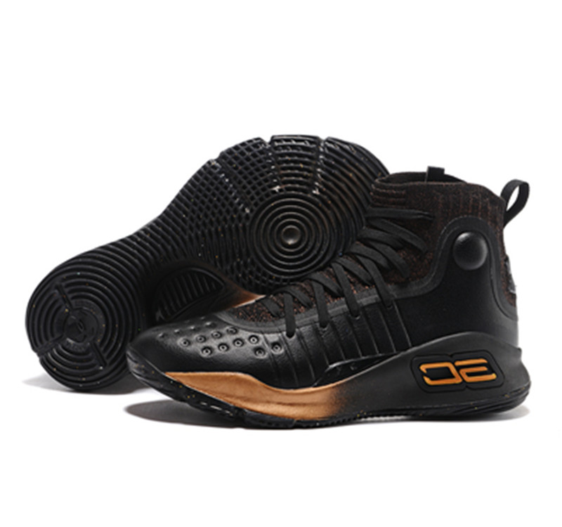 UA Stephen Curry 4 high black gold