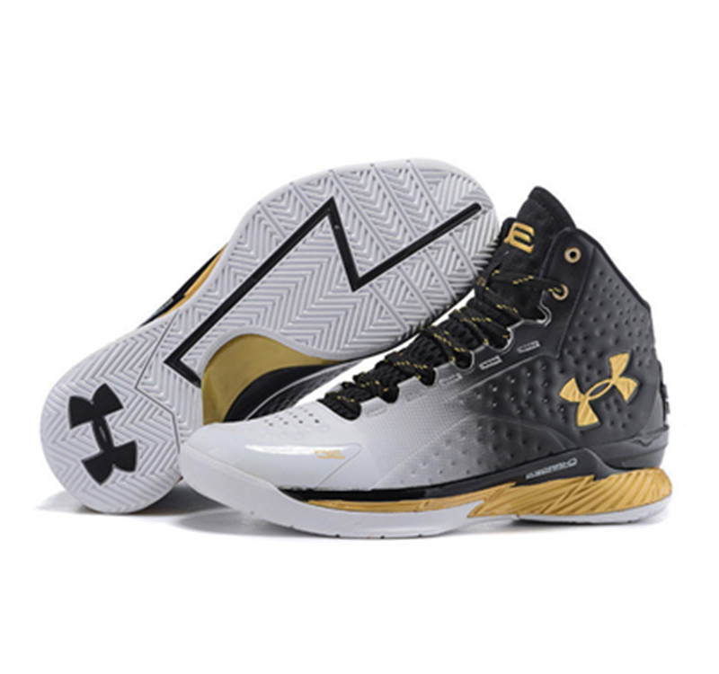 Under Armour Stephen Curry 1 Shoes black glod gradient