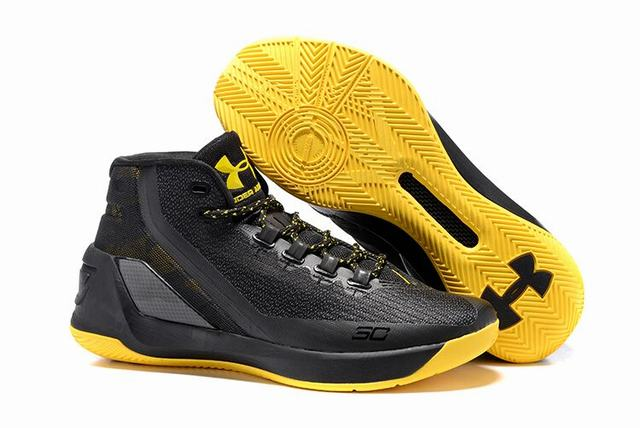 Curry 3 Shoes Black Yellow