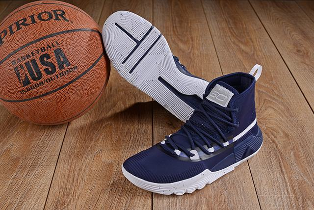 Curry 3 Shoes Dark Blue White