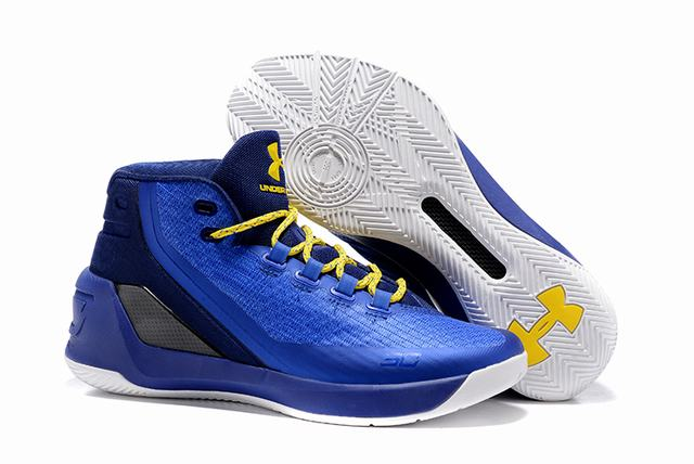 Curry 3 Shoes Royal Blue Yellow
