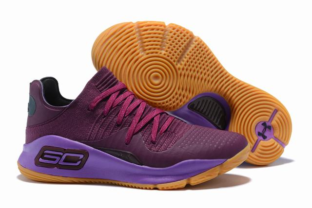 Curry 4 Shoes Low Purple Red