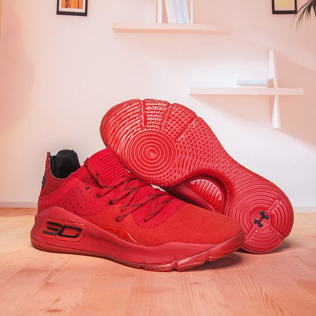 Curry 4 Shoes Low Red Black
