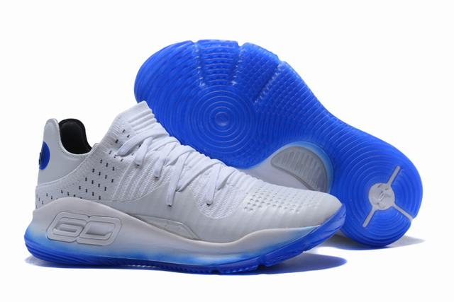 Curry 4 Shoes Low White Blue