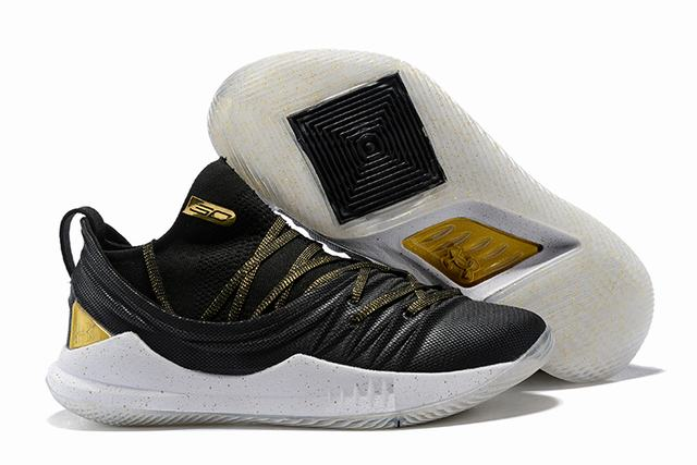 Curry 5 Shoes Black Gold