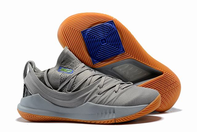Curry 5 Shoes Grey Blue