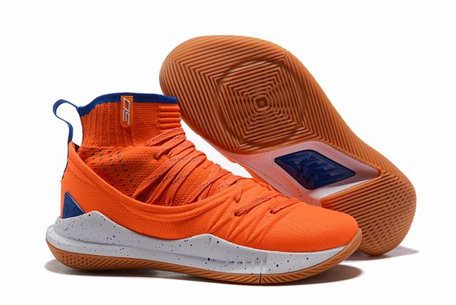Curry 5 Shoes Orange Royal Blue