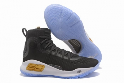 Curry 4 Shoes High Black White