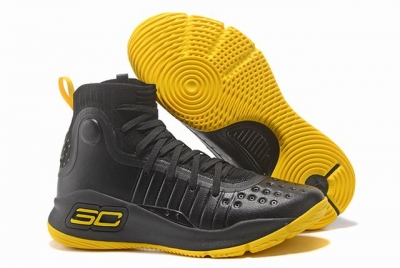 Curry 4 Shoes High Black Yellow