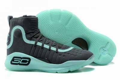 Curry 4 Shoes High Grey Green