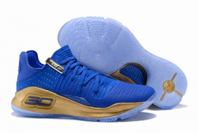 Curry 4 Shoes Low Royal Blue Gold
