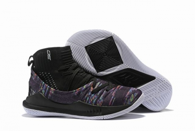 Curry 5 Shoes High Black Rainbow