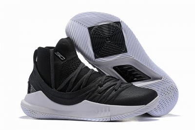 Curry 5 Shoes High Black White Grey