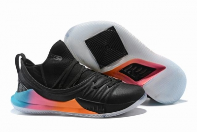 Curry 5 Shoes Low Black Rainbow