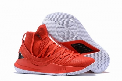Curry 5 Shoes Red White