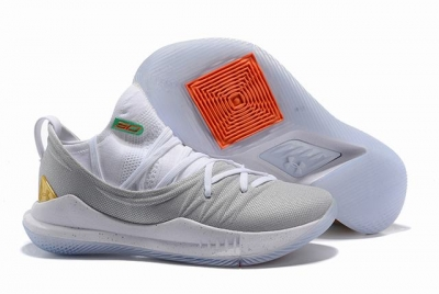 Curry 5 Shoes White Grey