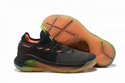 Curry 6 Shoes Low Black Grey Orange