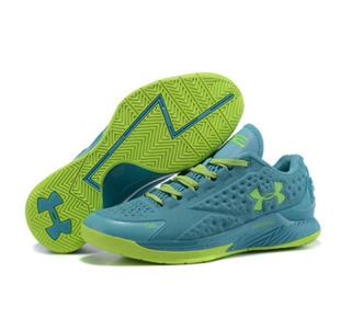 Under Armour ClutchFit Drive Low Stephen Curry Shoes Purple Green