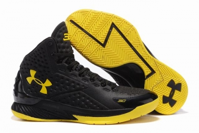 Curry 1 Shoes Champion Black Yellow