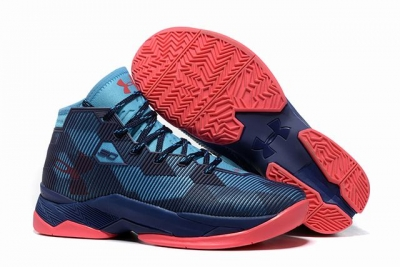Curry 2.5 Shoes Dark Blue Red